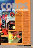 Scan of the preview of Blast Corps published in the magazine N64 01