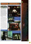 Scan of the preview of Mission: Impossible published in the magazine N64 01