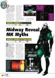 Scan of the preview of Mortal Kombat 4 published in the magazine N64 03