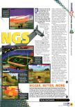 Scan of the preview of Aero Fighters Assault published in the magazine N64 04, page 2