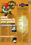 Scan of the preview of Pokemon Stadium published in the magazine N64 04