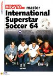 Scan of the walkthrough of International Superstar Soccer 64 published in the magazine N64 04, page 1