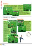 Scan of the walkthrough of International Superstar Soccer 64 published in the magazine N64 04, page 3