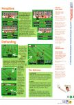 Scan of the walkthrough of International Superstar Soccer 64 published in the magazine N64 04, page 4