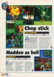 Scan of the preview of Madden 64 published in the magazine N64 06, page 1