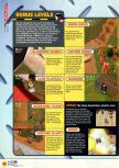 Scan of the walkthrough of Blast Corps published in the magazine N64 08, page 7