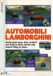 Scan of the review of Automobili Lamborghini published in the magazine N64 10