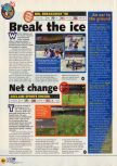 Scan of the preview of NHL Breakaway 98 published in the magazine N64 11, page 1