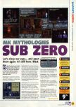 Scan of the review of Mortal Kombat Mythologies: Sub-Zero published in the magazine N64 11