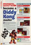 Scan of the walkthrough of Diddy Kong Racing published in the magazine N64 11, page 1