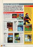 Scan of the walkthrough of Diddy Kong Racing published in the magazine N64 11, page 5
