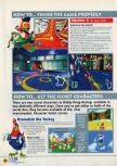 Scan of the walkthrough of Diddy Kong Racing published in the magazine N64 11, page 7