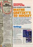 Scan of the walkthrough of Wayne Gretzky's 3D Hockey published in the magazine N64 11, page 1
