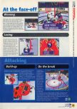 Scan of the walkthrough of Wayne Gretzky's 3D Hockey published in the magazine N64 11, page 2