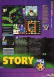 Scan of the review of Yoshi's Story published in the magazine N64 12, page 2