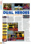 Scan of the review of Dual Heroes published in the magazine N64 12