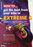 Scan of the walkthrough of Extreme-G published in the magazine N64 12, page 1