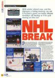 Scan of the review of NHL Breakaway 98 published in the magazine N64 14, page 1