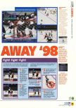 Scan of the review of NHL Breakaway 98 published in the magazine N64 14, page 2