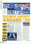 Scan of the review of Olympic Hockey Nagano '98 published in the magazine N64 15