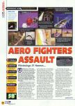 Scan of the review of Aero Fighters Assault published in the magazine N64 16
