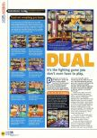 Scan of the review of Dual Heroes published in the magazine N64 17