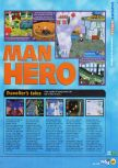 Scan of the review of Bomberman Hero published in the magazine N64 17, page 2