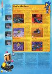Scan of the review of Bomberman Hero published in the magazine N64 17, page 3