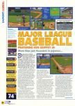 Scan of the review of Major League Baseball Featuring Ken Griffey, Jr. published in the magazine N64 18