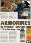 Scan of the review of Armorines: Project S.W.A.R.M. published in the magazine X64 24