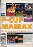 Scan of the review of Fighter Destiny 2 published in the magazine X64 24, page 1