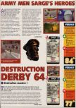 Scan of the review of Army Men: Sarge's Heroes published in the magazine X64 24, page 1