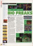 Scan of the review of Bio F.R.E.A.K.S. published in the magazine N64 20