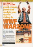 Scan of the walkthrough of WWF War Zone published in the magazine N64 20, page 1