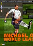 Scan of the preview of Michael Owen's World League Soccer 2000 published in the magazine N64 23, page 1