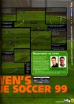 Scan of the preview of Michael Owen's World League Soccer 2000 published in the magazine N64 23, page 2