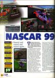 Scan of the review of NASCAR '99 published in the magazine N64 23, page 1