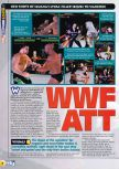 Scan of the preview of WWF Attitude published in the magazine N64 28, page 1