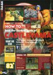 Scan of the walkthrough of Castlevania published in the magazine N64 29, page 1