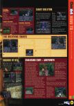 Scan of the walkthrough of Castlevania published in the magazine N64 29, page 2