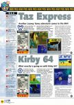 Scan of the preview of Kirby's Air Ride published in the magazine N64 31, page 1