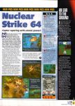 Scan of the preview of Nuclear Strike 64 published in the magazine N64 36, page 1
