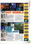 Scan of the review of Army Men: Sarge's Heroes published in the magazine N64 36, page 1