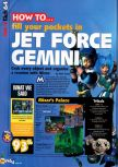 Scan of the walkthrough of Jet Force Gemini published in the magazine N64 36, page 1