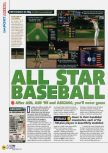 Scan of the review of All-Star Baseball 2001 published in the magazine N64 44, page 1