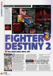Scan of the review of Fighter Destiny 2 published in the magazine N64 45, page 1