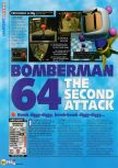 Scan of the review of Bomberman 64: The Second Attack published in the magazine N64 45, page 1
