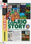 Scan of the review of Paper Mario published in the magazine N64 47, page 1