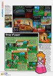 Scan of the review of Paper Mario published in the magazine N64 47, page 3
