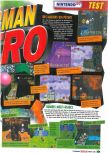 Scan of the review of Bomberman Hero published in the magazine Le Magazine Officiel Nintendo 08, page 2